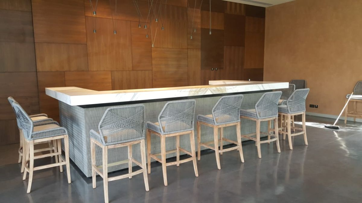 Expanded metal and wire cloth interior design ideas